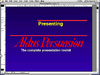 A screenshot of Aldus Persuasion 2.1 displaying a demo slideshow.